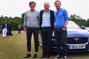 Tom Payne and Nick Webb with their 'secret chauffeur', US tennis champion John McEnroe (centre)