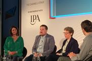 James Corden onstage at Advertising Week Europe 2014