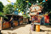 Jose Cuervo's brightly coloured 'Tequila Town' activation (image: wildernessfestival.com)