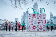 KFC and Deliveroo dish out burgers from 10ft gift box
