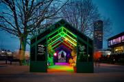 The 12-metre long greenhouse will remain on the South Bank until tomorrow (5 December)