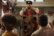 Brian Blessed booms atop brown bear in Ladbrokes spot