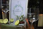 The Gin Garden menu from Langley's No. 8 is available at all 10 Corney & Barrow bars