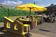 The Lipton Ice Tea parklets form part of the brand's Daybreaker summer event series