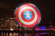 Disney+ marks 'Falcon and Winter Soldier' launch with projection mapping campaign