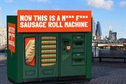 Meatless Farm installs sausage roll vending machine on London's South Bank