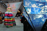 Microsoft: lights up Fyodor Golan's London Fashion Week show
