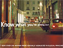 Illegal minicabs: ad campaign