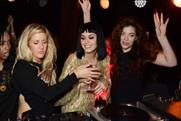 Ellie Goulding, Katy Perry and Lorde at The Brits after-show party