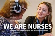 NHS targets uni applicants with nursing recruitment poster campaign