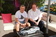 Martin Sorrell (left) and Andy Palmer: revealed their plans for Aston Martin at Cannes yesterday