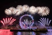 London New Year's Eve fireworks celebrated women's suffrage centenary