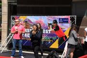 Passers-by could take part in the activation's 'Crazy Catch' competition