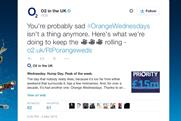O2: tweets details of an Orange Wednesdays resurrection