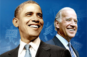 Obama and running mate Biden: TV slot