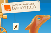 Orange: balloon race