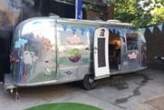 A festival theme was created with bunting and airstreams
