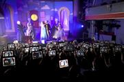 Ebay pantomime: audience members will be encouraged to shop via tablet
