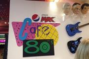 The Back to the Future II café featured a Pepsi Max dispensing machine
