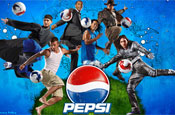 Pepsi: footballers star on social networking site