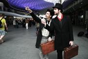 Victorian-themed actors raise awareness of London's King's Cross redevelopment