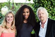 Serena Williams (middle) and Richard Branson attended the WTA's pre-Wimbledon party last night (25 June)