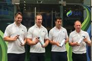 International rugby stars launched the Sound of Victory bottle yesterday
