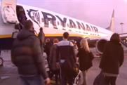Ryanair: new TV ad screening in Ireland