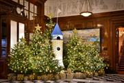 Lego builds 12 festive models in Savoy hotel