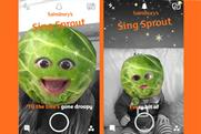 Sainsbury's and Snapchat want to turn consumers into singing brussels sprouts this Christmas