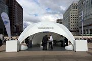The Samsung S6 in the city pod at London's Canary Wharf