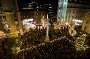 In pictures: Projection Artworks brings 3D experience to Seven Dials Christmas lights
