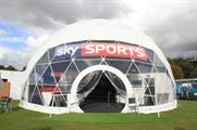 The 14-metre diameter dome contains a replica golfing green