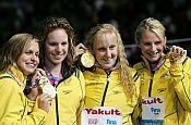 Swimmers: Australian women's team in Speedo