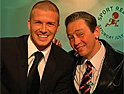 Sport Relief: Beckham and Ron Manager get texty