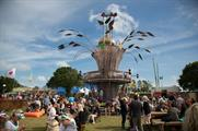 The Strongbow Tree towered over the festival at 12 metres