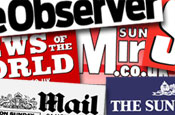 Sunday newspapers: decline in November