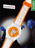 Swatch: metro wraparound ad