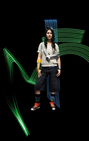 Onitsuka Tiger creates 'light-writing' online fashion show