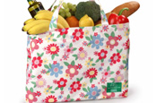 Cath Kidston: designs reusable Tesco bag for Marie Curie