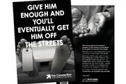 The Connection: hard-hitting ads to convince people not to hand homeless people money