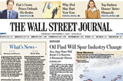 Wall Street Journal: ad trumpets acquisition