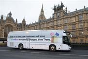 Three Brexit bus warns of potential roaming fees