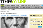 Times Online Archive: opens access to 200 years of stories