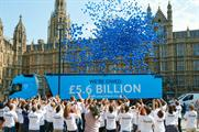 TransferWise released 5,600 balloons outside Westminster and across London in the protest stunt