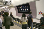Tube screens: live updates for Intel campaign