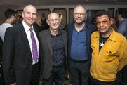 The boys are back: three members of much-loved cast of cult hit TV series Red Dwarf with writer Doug Naylor (l-r Chris Barrie, Doug Naylor, Robert Llewellyn, and Craig Charles