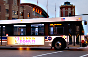 Us bus: fitted with digital ad screens