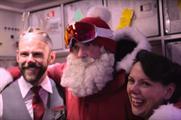 Santa surprised passengers on two Virgin Atlantic flights (YouTube/VirginAtlantic)