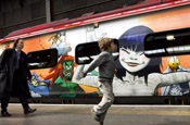 Virgin Trains: decorated to celebrate Manchester International Festival